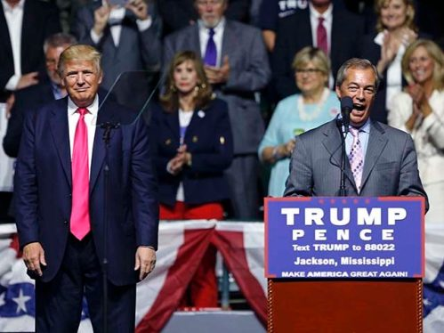 Donald Trump,Nigel Farage